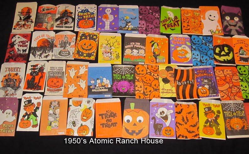 1950's Atomic Ranch House: Vintage 1950's Mid-Century Halloween ...
