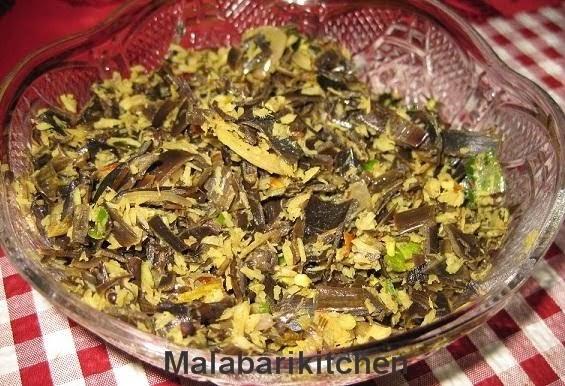 Malabarikitchen: Vazhakka chundu /Banana flower thoran