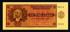 """MARK TİPİ ALMANYA BASIM """" 10 LİRA """""""