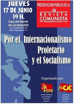 Presentación de la Revista Comunista Internacional en Madrid Revista