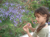 Leah by the Jacaranda