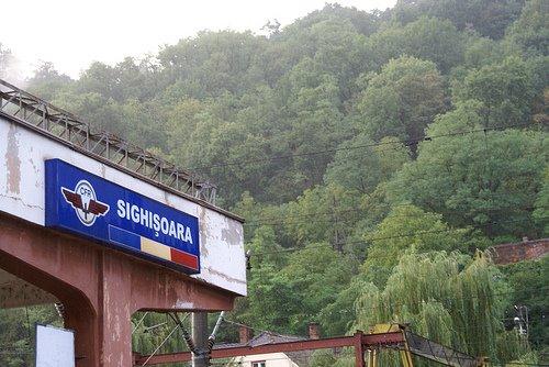 Romanian train stop