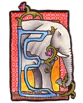 E mint elefánt