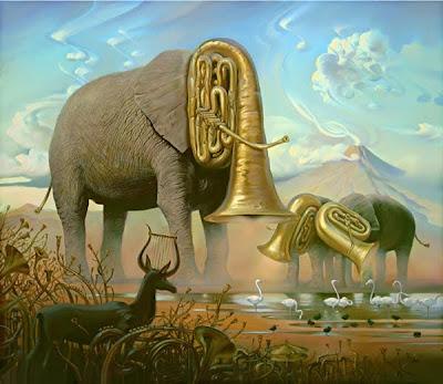 Vladimir Kush szerint egy elefánt