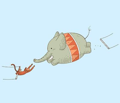 Elefánt a cirkuszban