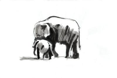 Festett elefánt