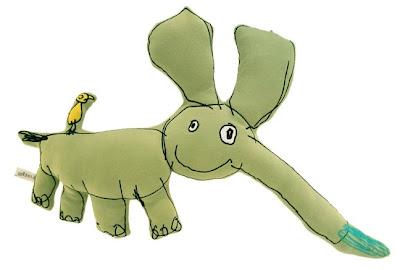 Elefánt rajz párnán
