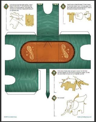 Elefánt papercraft