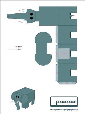 Megint egy elefánt papercraft :)