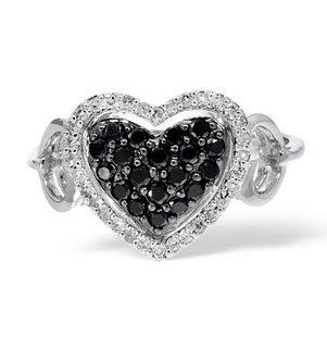 diamonds and golds black diamond heart ring. Black Bedroom Furniture Sets. Home Design Ideas