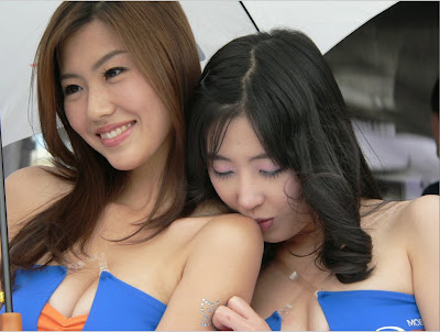 sexy umbrella girl with blue and black sexy dress picture