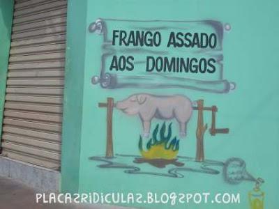 Letreiros Ridículos Frango+porco