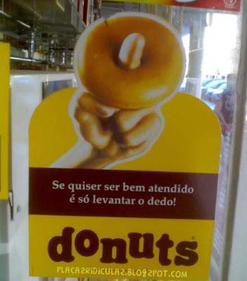 Letreiros Ridículos Donuts