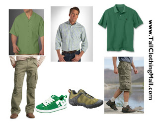 mens tall green clothing