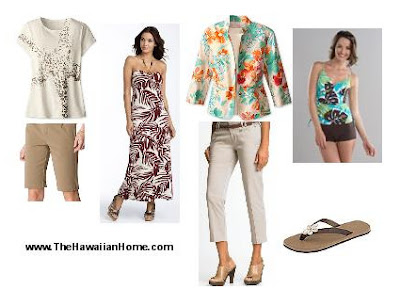 women's tropical wardrobe - tropical clothes