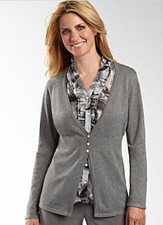 women's tall cardigan sweater gray