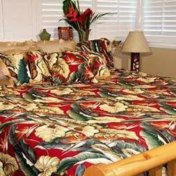 hawaiian bedding sale - bird of paradise bedding