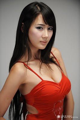 Korea Hot Model, Han Chae Young  with Sexy Red Dress