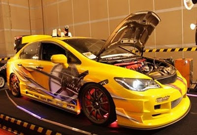 Honda Auto Racing Part on Auto Modification  Honda Civic Modification With Street Racing Concept
