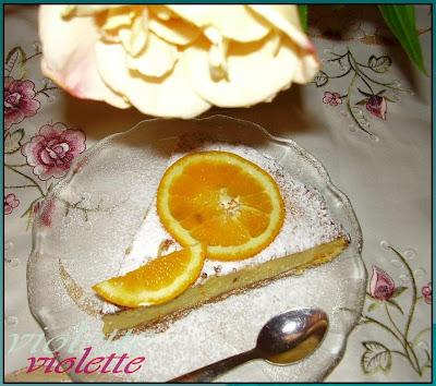 Cheesecake cu mascarpone si portocale
