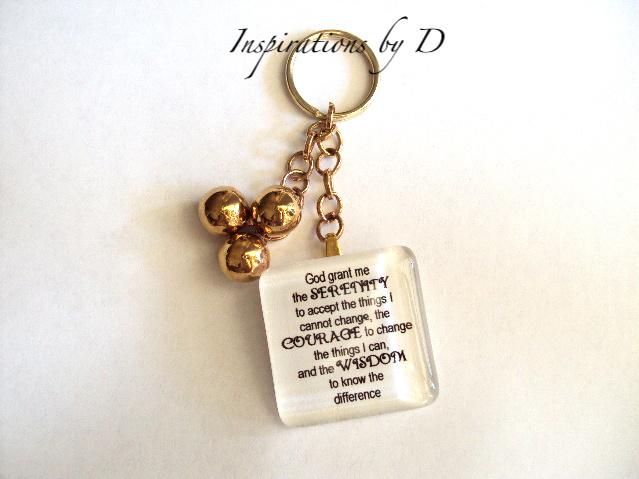 Serenity Prayer Key Chain