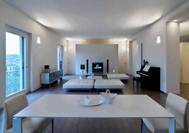 Daniela wurdack un 39 appartamento trasparente nella vecchia for Design interni case moderne