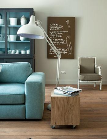 Welke kleur past bij mijn blauwe bank villa d 39 esta for Bruin grijs interieur