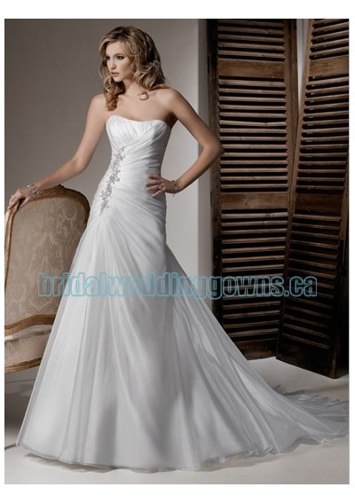 Wedding dress idea of the day simple sparkly a line for Very sparkly wedding dresses