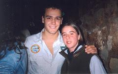 Pedro com Catherine Carvalho