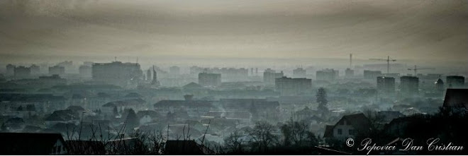 Baia Mare a part of the city (in foggy)