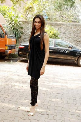 Deepika padukone in Black Dress