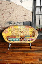 Urban Outfitters Alameda Patchwork Loveseat