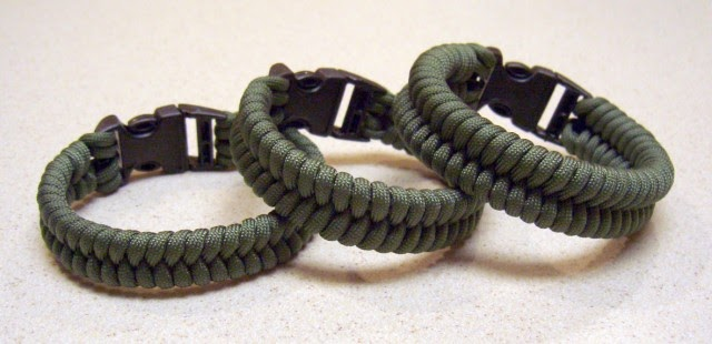 Paracord Bracelet Designs >> Stormdrane's Blog: Woven paracord bracelets, one strand two working ends.