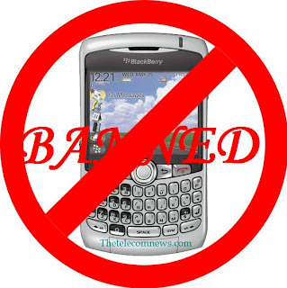 Ban on BlackBerry