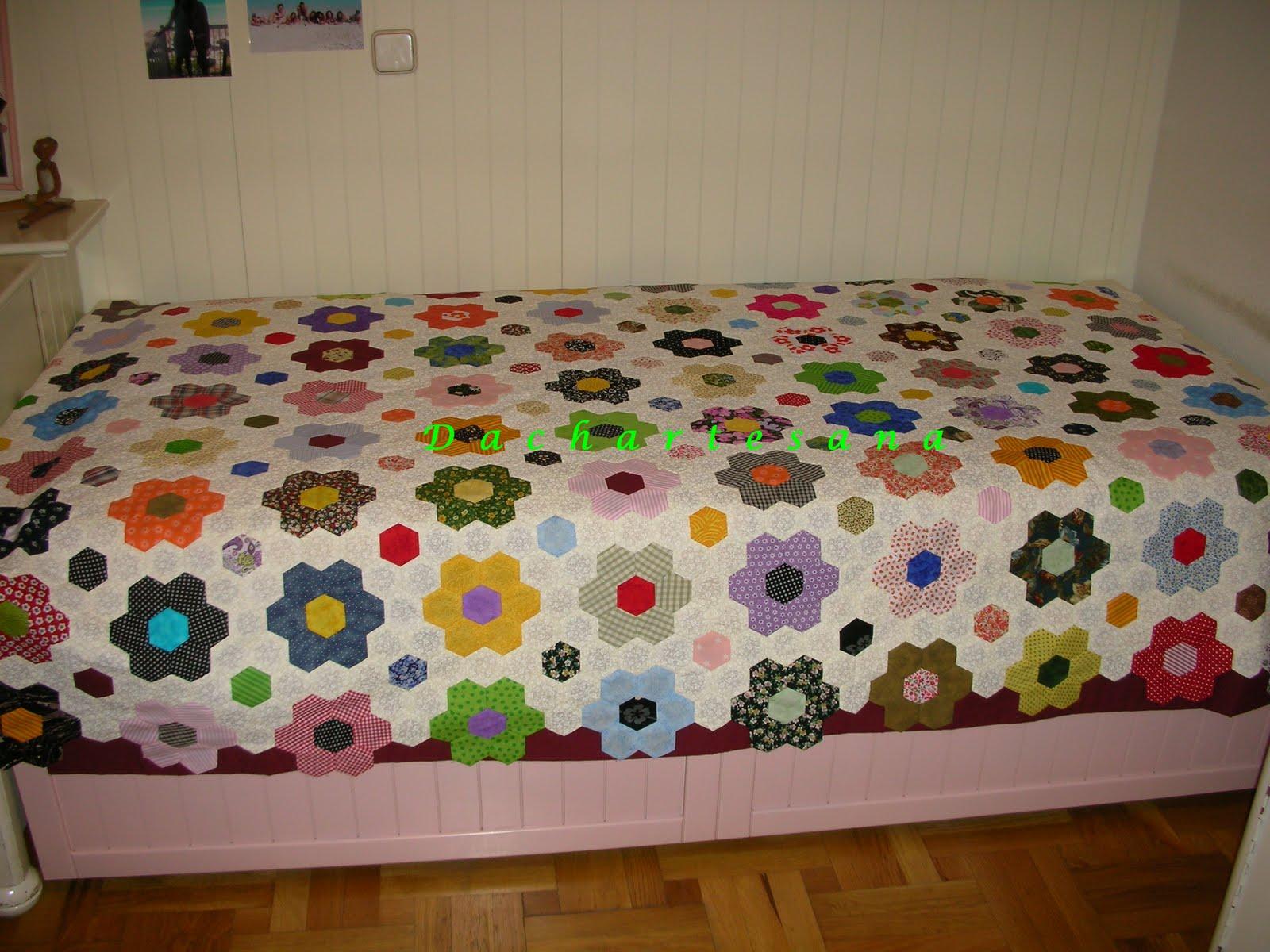 Dacha artesana el jardin de la abuela continuacion - Colchas de patchwork modernas ...