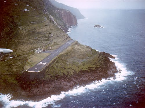 short landing strip on an pacific island