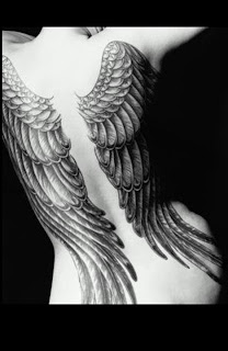Angel Tattoo Designs Especially Angel Wings Tattoos With Image Female Back Piece Angel Wings Tattoo Picture 8