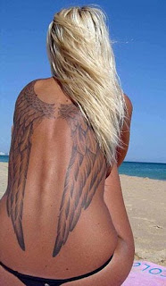 Angel Tattoo Designs Especially Angel Wings Tattoos With Image Female Back Piece Angel Wings Tattoo Picture 5