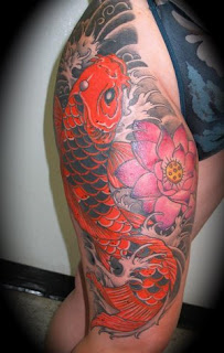 Amazing Art of Thigh Japanese Tattoo Ideas With Koi Fish Tattoo Designs With Image Thigh Japanese Koi Fish Tattoos For Female Tattoo Gallery 4