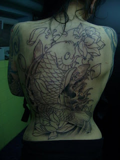 Amazing Art of Back Piece Japanese Tattoo Ideas With Koi Fish Tattoo Designs With Image Back Piece Japanese Koi Fish Tattoos For Female Tattoo Gallery 4
