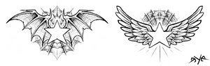 Nice Star Tattoos With Image Tattoo Designs Especially Wings Star Tattoo Picture 7