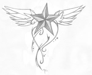 Nice Star Tattoos With Image Tattoo Designs Especially Star Wings Tattoo Picture 8