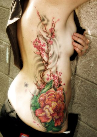 hibiscus tattoos side-body-hibiscus-flower-tattoo