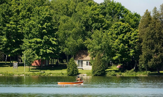 a cottage for sale on Bass Lake, just outside Orillia