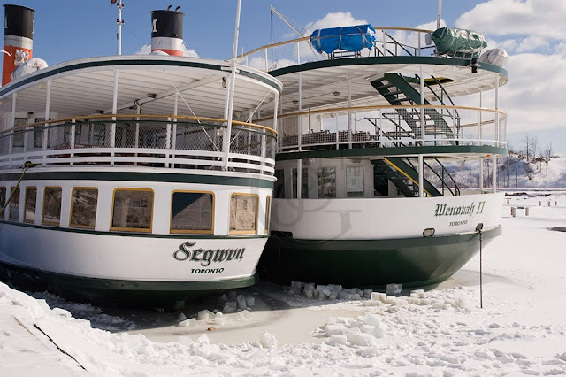 the Segwun and the Wenona, tourist boats at Gravenhurst Ontario