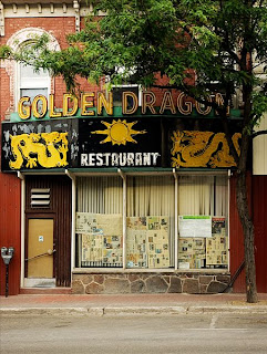 the front of the old Golden Dragon restaurant on Mississaga Street, Orillia
