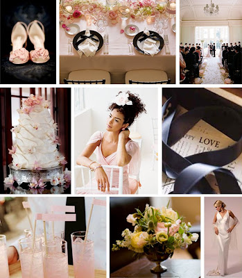 top row LaFleur Weddings Gloria Wong Design middle and right images