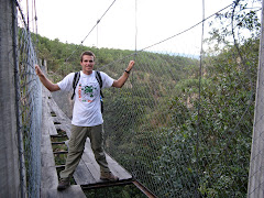 Kevin on the suspension bridge
