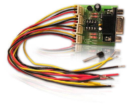 4 Channel Temperature Data Logger Electronic Circuit