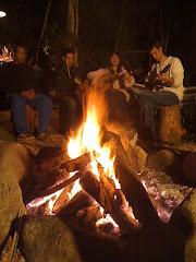 Lenha na fogueira